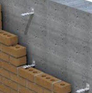 Installation d'ancrage sur un mur de maçonnerie