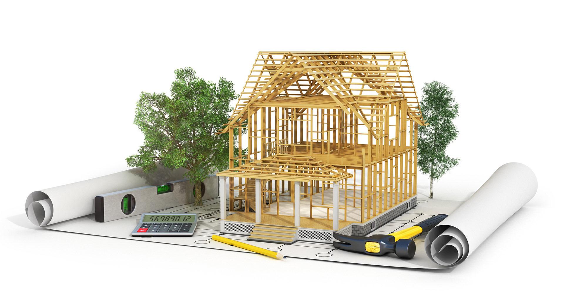 Construction d'un bâtiment en maquette