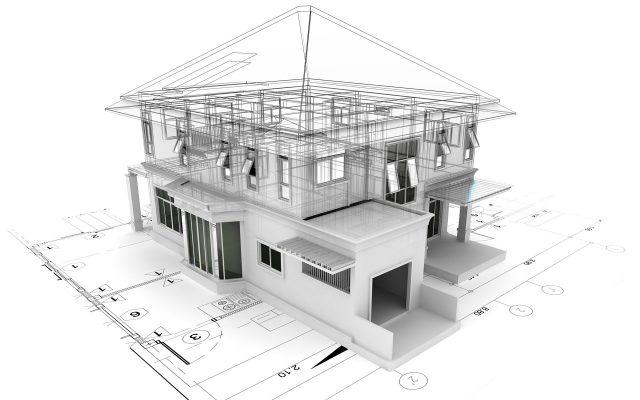 Plan tridimensionnel d'une maison