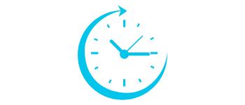 Icône de d'horloge pour rapidité